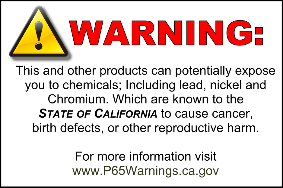 California warning label